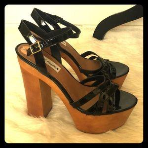 Steve Madden wood platform heels